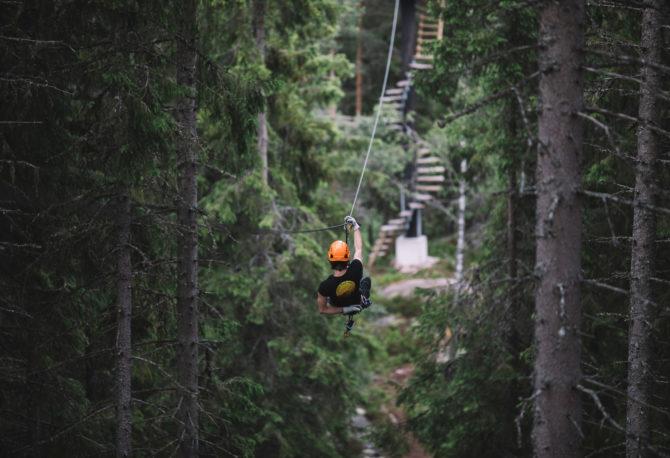 Zipline Schweden